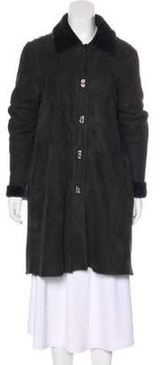 Michael Kors Knee-Length Shearling Coat black Knee-Length Shearling Coat