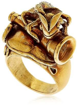 Montevertine Decori Chameleon With Hunting Horn Ring