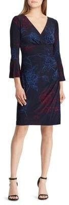 Lauren Ralph Lauren Jersey Bell-Sleeve Cocktail Dress