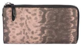 Dries Van Noten Embossed Leather Continental Wallet