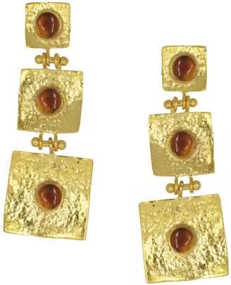 ac891e3d7 Pandora Ottoman Hands Brown Agate Hammered Drop Earrings