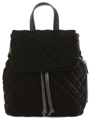Bp. Quilted Velvet Backpack - Black $55 thestylecure.com