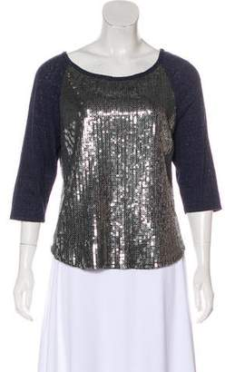 Gryphon Sequined Scoop Neck Top