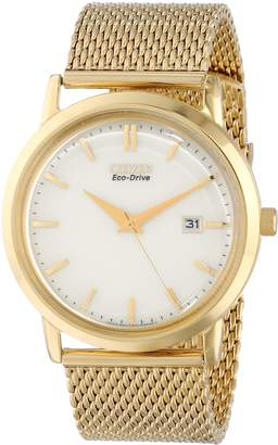 """Citizen Men's BM7192-51A """"Mesh Collection"""" Stainless Steel Eco-Drive Watch"""