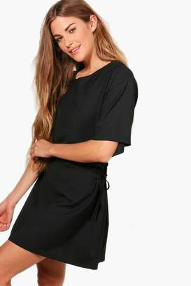 boohoo Lace Up Side Corset Shift Dress