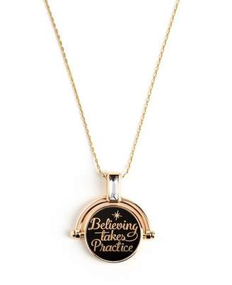 Alex and Ani Believing Takes Practice Spinner Pendant Necklace
