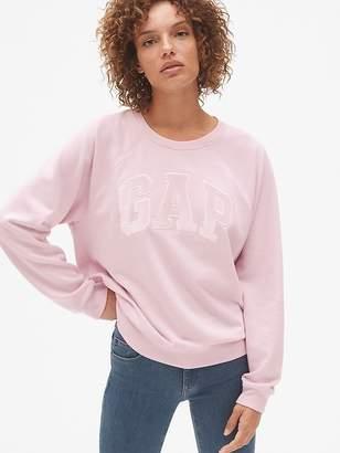 Gap Velvet Logo Crewneck Pullover Sweatshirt