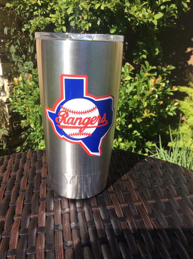 Etsy Texas rangers yeti , personalized yeti, RTIC cup,Christmas Gift, yeti rambler, yeti 30 oz. universi