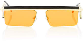 Le Specs Adam Selman X The Flex Square-Frame Sunglasses