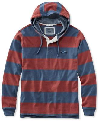 L.L. Bean L.L.Bean Men's Lakewashed Rugby, Traditional Fit Long-Sleeve Hoodie Stripe