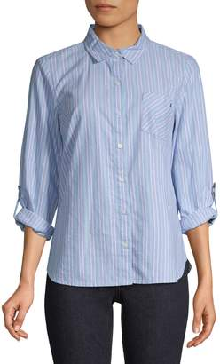 Tommy Hilfiger Striped Cotton Button-Down Shirt