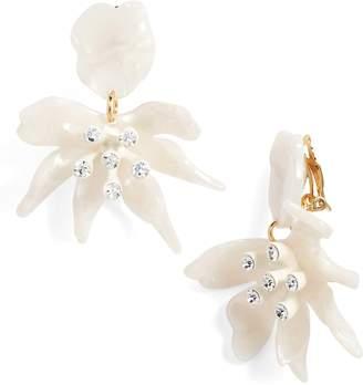Lele Sadoughi Daffodil Clip Drop Earrings