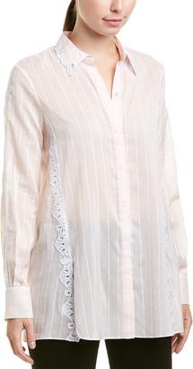 Jonathan Simkhai Johnathan Simkhai Embroidered Silk-Blend Top