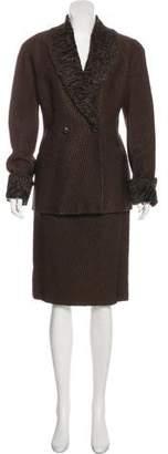 Gianfranco Ferre Wool-Blend Skirt Suit