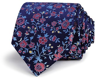 The Men's Store at Bloomingdale's Floral Contrast Classic Tie - 100% Exclusive $59 thestylecure.com