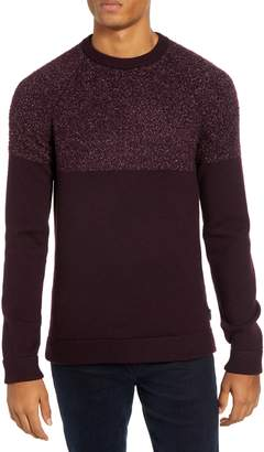 Ted Baker Arks Slim Fit Textured Crew Sweater