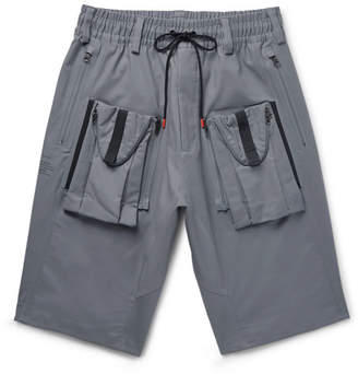 Nike Acg Deploy Cargo Wide-Leg Stretch-Cotton Shorts