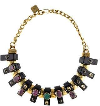 Ashley Pittman Horn & Multistone Uongozi Collar Necklace