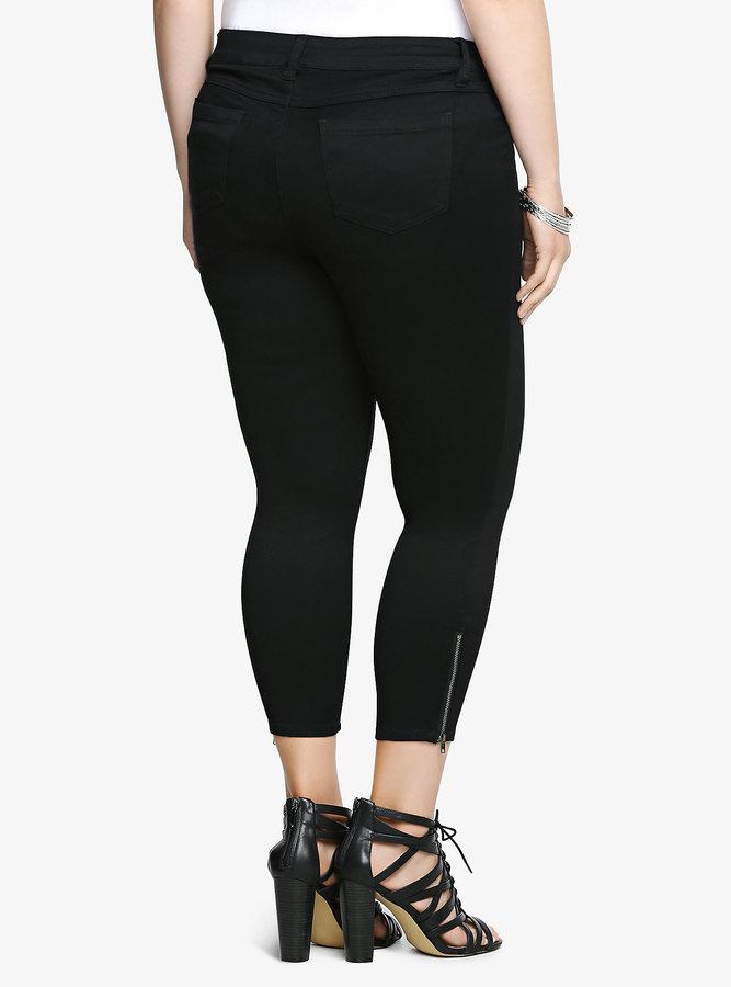 Torrid Ankle Zip Stiletto Jean - Black Rinse
