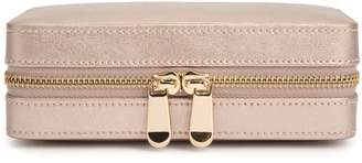Wolf The Alkemistry Rose Gold Leather Jewellery Zip Case