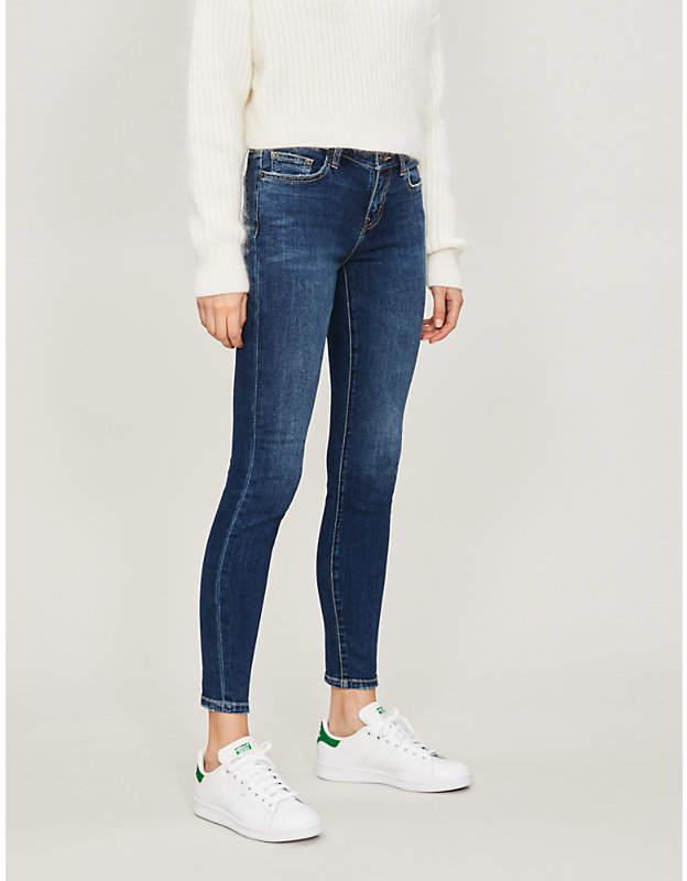 Stiletto skinny high-rise jeans