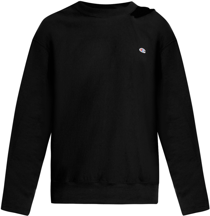 VETEMENTS X Champion oversized cotton-blend sweatshirt