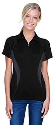 Ash City - North End Sport Red Ladies' Serac UTK cool?logik Performance Zippered Polo - BLACK 703 - M 78657