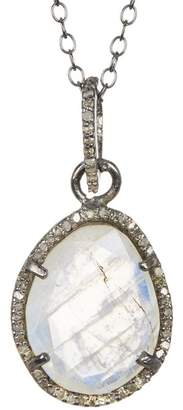 ADORNIA Beckett Moonstone & Champagne Diamond Necklace