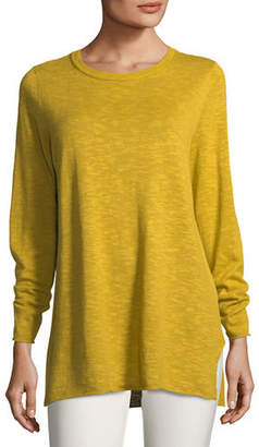Eileen Fisher Easy Long-Sleeve Pullover Tunic