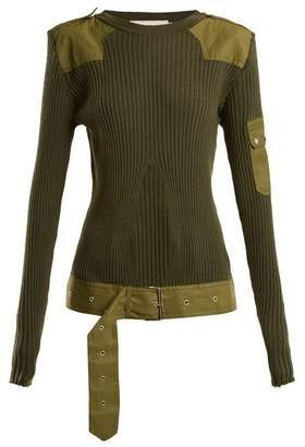 Marques Almeida MARQUES'ALMEIDA Belted ribbed-knit wool top