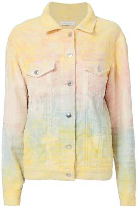 IRO Maloma Tie-Dye Tweed Oversized Jacket