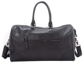 EAZO - Vintage Double Front Zip Holdall in Black