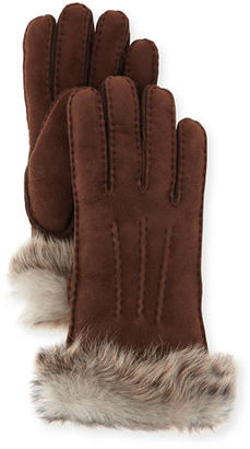 UGG Classic Heritage Toscana Gloves, Chocolate $120 thestylecure.com