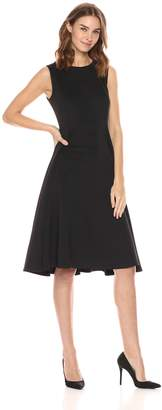 Calvin Klein Women's Sleeveless Princess Seamed a-Line Midi Dress