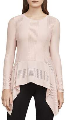 BCBGMAXAZRIA Thanda Pointelle Handkerchief-Hem Sweater