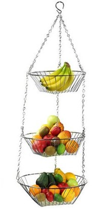 Home Basics Hanging 3-Tier Basket