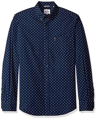 Ben Sherman Men's Long Sleeve Classic Polka Dot Woven