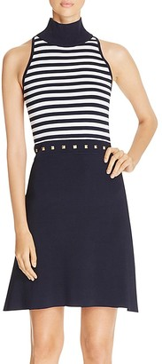 MICHAEL Michael Kors Striped Fit-And-Flare Dress $175 thestylecure.com