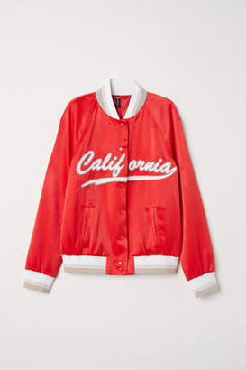 H&M Satin Baseball Jacket - Red