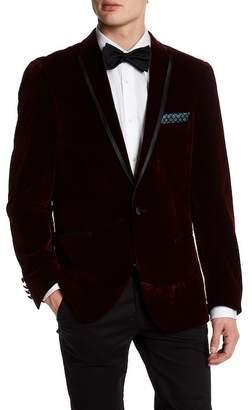 Paisley & Gray Notch Collar Trim Fit Velvet Sport Coat