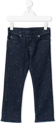 Christian Dior embroidered jeans