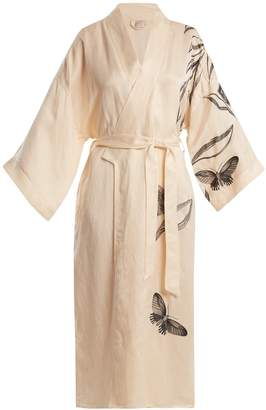 MORPHO + LUNA Gigi embroidered linen-blend robe