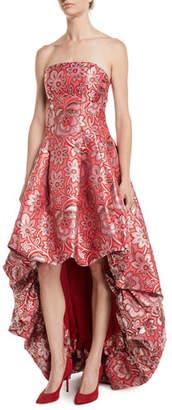 Zac Posen Celine Strapless High-Low Gown