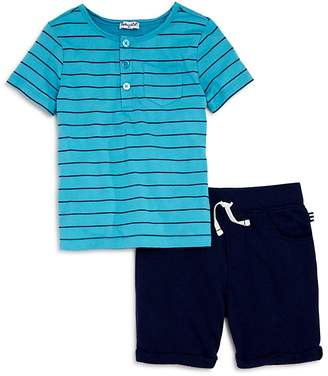 Splendid Boys' Striped Henley Tee & French Terry Shorts Set - Little Kid