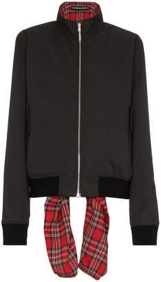 Y/Project Y / Project tartan tie bomber jacket