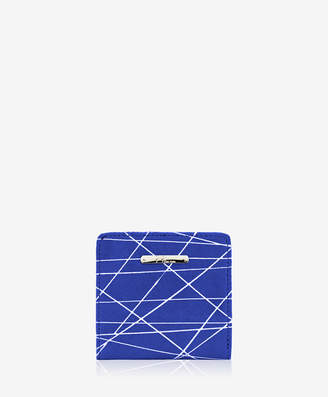 GiGi New York Mini Foldover Wallet Geometric Italian Calfskin Leather
