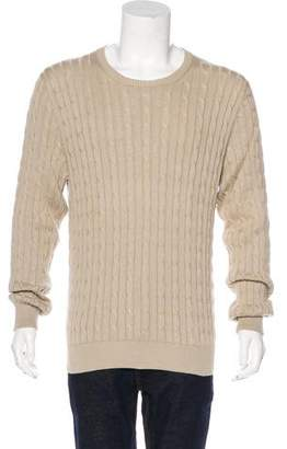 Loro Piana Cable Knit Crew Neck Sweater