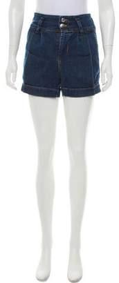 CNC Costume National C'N'C Pleated Denim Shorts