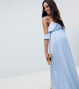 Queen Bee Cold Shoulder Detail Maxi Dress