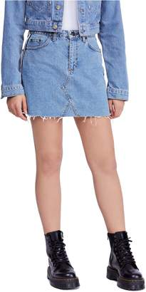 BDG Urban Outfitters Side Stripe Denim Miniskirt